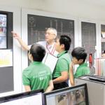 防災センターは、施設の防災管理を集中的に行う場所。さまざまな情報が集まっています
